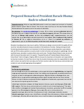 ?obamas back to school speech essay When barack obama was in harvard law school, he once alluded to  businessman donald trump as representing the american dream, but.