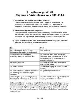 Noter til Skyerne af Aristofanes vers 889-1114