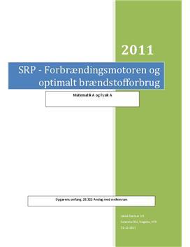 SOP: Brændstofmotoren og brændstofbrug | Fysik A og Matematik A