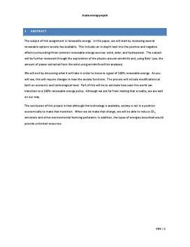SOP: Vedvarende Energi og Betz Lov i Fysik og Teknologi