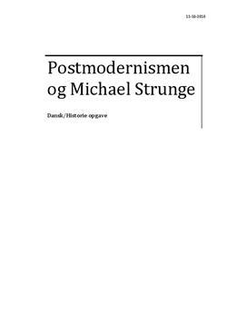Postmodernismen og Michael Strunge