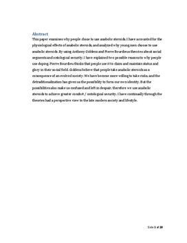 SRP om doping med anabolske steroider i Samfundsfag og Idræt