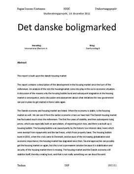 SOP om Det Danske Boligmarked i Samfundsfag og IØ