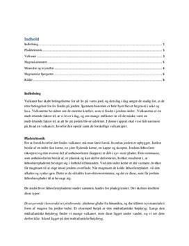 NV-Rapport: Pladetektonik og Vulkaner