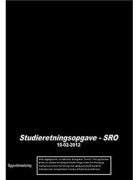 SRO: The Shining og Horrorgenren i Engelsk og Mediefag