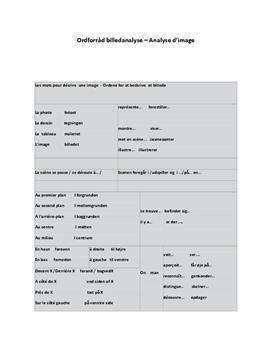 Noter til Billedanalyse i Fransk