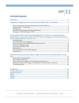 SRP: Israel-Palæstina Konflikten og FN i Historie og Samfundsfag