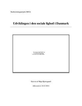 SRP om Ulighed i Danmark i Historie og Samfundsfag
