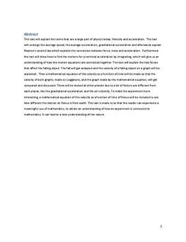 SRO i fysik og matematik om Fald med luftmodstand