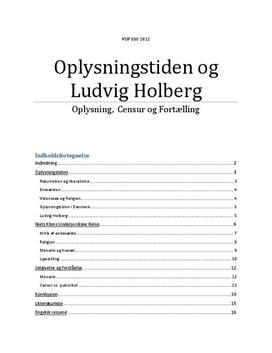 SSO: Holberg og Niels Klims Underjodiske Reise