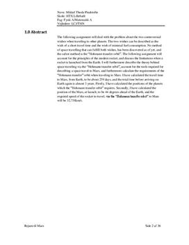 SOP: Astronomi og Hohmannbanen i Fysik A og Matematik A