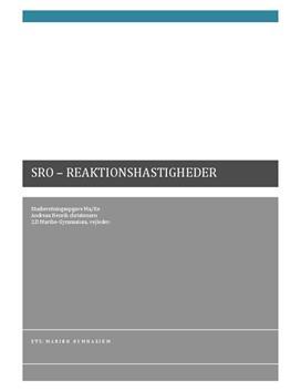SRO om Reaktionskinetik i Matematik A og Kemi A