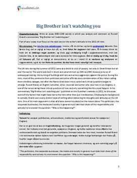big brother essays