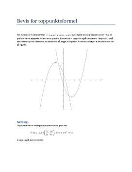 Bevis for toppunktsformlen til eksamen i mundtlig matematik