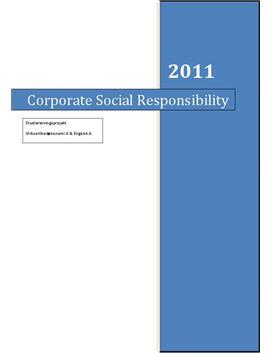 SOP om Corporate Social Responsibility i VØ og Engelsk
