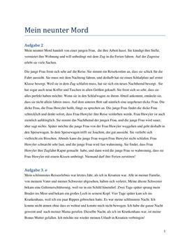 Mein Neunter Mord af Milena Moser | Resumé + 3e