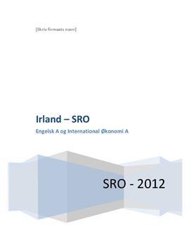 SRO om Irland og England i Engelsk og IØ