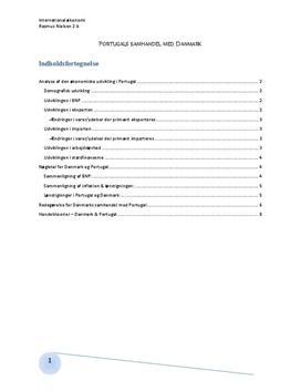 Portugals Økonomiske Udvikling - Analyse i IØ