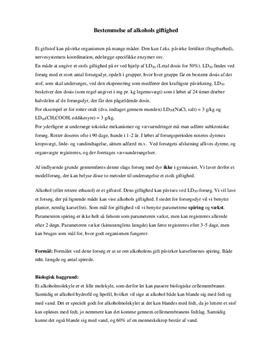 Alkohol og karse: Vækst og LD50 | Rapport