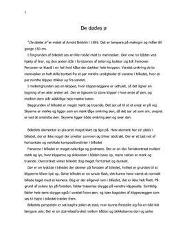 De dødes ø af Arnold Böcklin   Billedanalyse