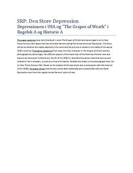 Eksempel på Abstract i SRP om Den Store Depression