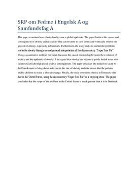 Eksempel på Abstract i Engelsk og Samfundsfag fra SRP