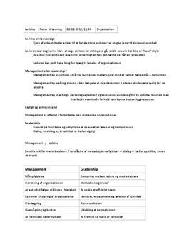 Noter til Kapitel 7 i Organisation C: Ledelse