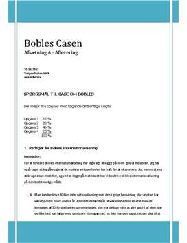 Case om Bobles - Internationalisering