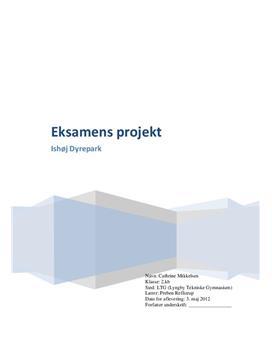 Ishøj Dyrepark - Eksamensprojekt Matematik B 2012 HTX