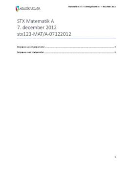 stx matematik b december 2012 facit