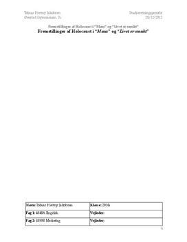 SRP om fremstilling af Holocaust i film og litteratur | Engelsk A og Mediefag B