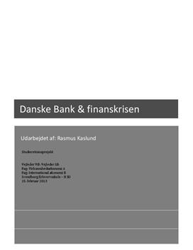 SRP om Danske Bank og finanskrisen i VØ A og IØ A
