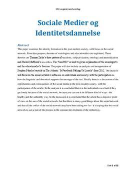 SRO: Sociale medier og identitetsdannelse i Engelsk og Samfundsfag