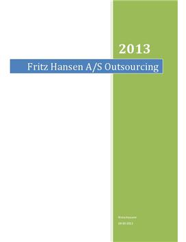 SOP om Fritz Hansen og outsourcing til Polen i Virksomhedsøkonomi A