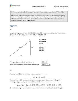 HF Matematik B 7. december 2012 - Delprøven med hjælpemidler