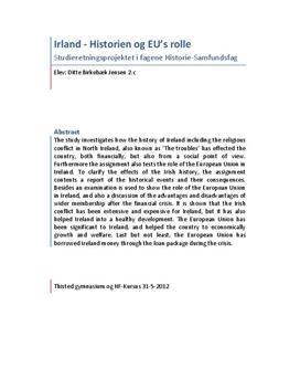 SRO om Irlands historie og EU's rolle | Samfundsfag A og Historie A