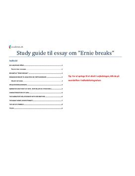 ernie breaks by genevieve scott essay Giveaways be the first to read new books prerelease books are listed for giveaway by publishers and authors, and members can enter to win winners are picked randomly at the end of the giveaway.