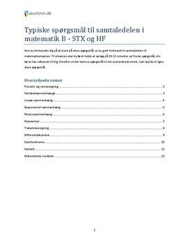 matematik b niveau pensum