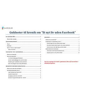 Facebook og de sociale medier