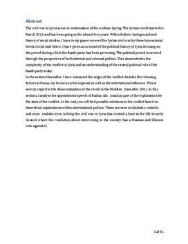 SRP om Konflikten i Syrien i Historie og Samfundsfag