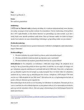 disposition til historie eksamen stx