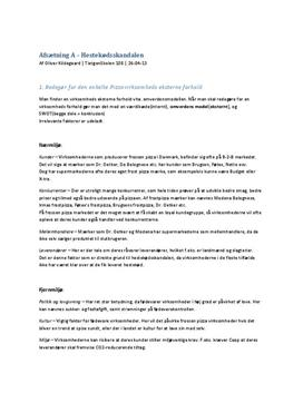Markedet for frysepizza   Konkurrenceforhold og eksterne forhold