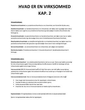 Noter til Virksomhedsøkonomi B, Trojka Kaptitel 2 til 18