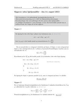 matematik b eksamen 2013