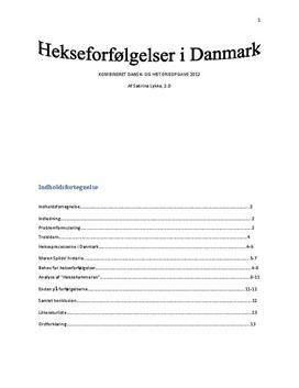 DHO om hekseforfølgelser i Danmark