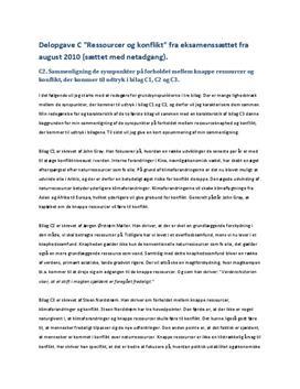 Delopgave C: Ressourcer og konflikt   Samfundsfag A