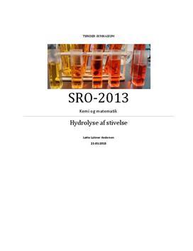 SRO: Hydrolyse af stivelse