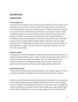 Analyser til Stelton A/S Erhverscase Maj 2013
