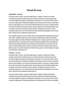 hvordan skal man skrive et essay Her får du hjælp til, hvordan man skriver et essay i dansk på de følgende sider går vi i dybden med, hvordan man kommer i gang med essayet, hvordan man skriver et essay og bygger det op (.