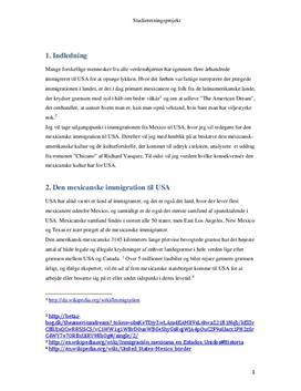 SOP: Analyse af Chicano af Richard Vasquez